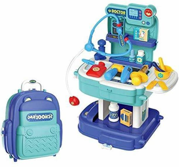 him tex Doctor Kit For Kids Mini Suitcase Doctor Set/kit for Kids/Boys/Girls Pretend Play