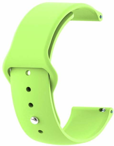 gettechgo Soft Liquid Silicone 20 mm Band Strap Compatible with Samsung Galaxy Watch 3 41mm, Galaxy 42mm, Galaxy Active 40mm, Active 2 (40-44mm) / AmazeFit BIP/BIP Lite/AmazeFit GTS, Amazefit GTR (42mm) / VivoActive 3 / RealMe Classic, Fashion & Smartwatches with 20mm Lugs (Light Green) Smart Watch Strap