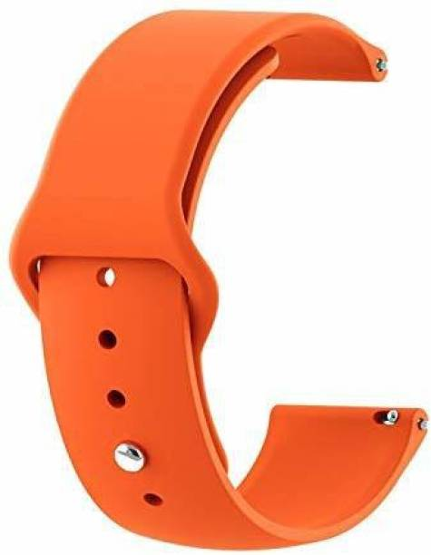 gettechgo Soft Liquid Silicone 20 mm Band Strap Compatible with Samsung Galaxy Watch 3 41mm, Galaxy 42mm, Galaxy Active 40mm, Active 2 (40-44mm) / AmazeFit BIP/BIP Lite/AmazeFit GTS, Amazefit GTR (42mm) / VivoActive 3 / RealMe Classic, Fashion & Smartwatches with 20mm Lugs Smart Watch Strap