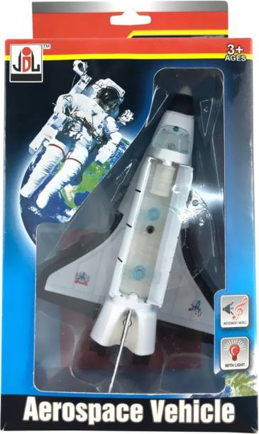 Miss & Chief DIE CAST PULL BACK SPACE SHUTTLE WITH LIGHT & MUSIC