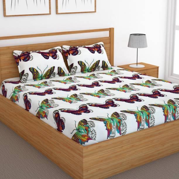 Bedspun 120 TC Cotton Double Animal Bedsheet