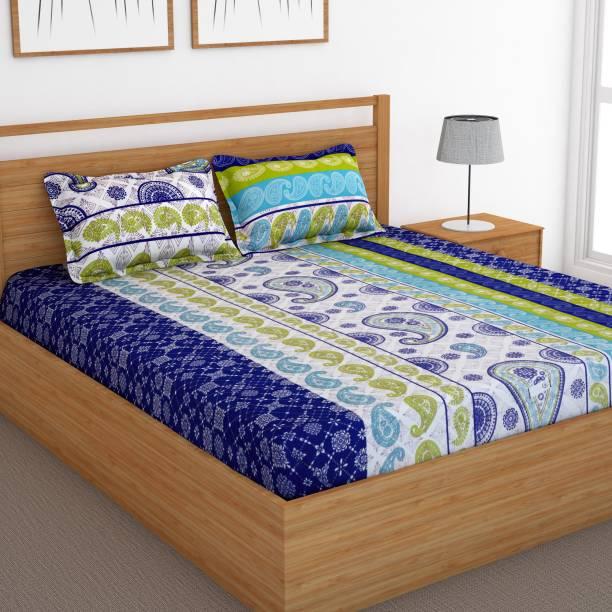 Bedspun 120 TC Cotton Double Abstract Bedsheet
