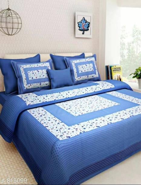 ABHISHEK FASHION 140 TC Cotton Double Printed Bedsheet