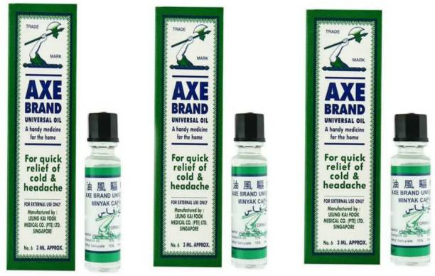 Axe Brand Universal oil 3ml Pack of 3 [Made in SINGAPORE] Liquid