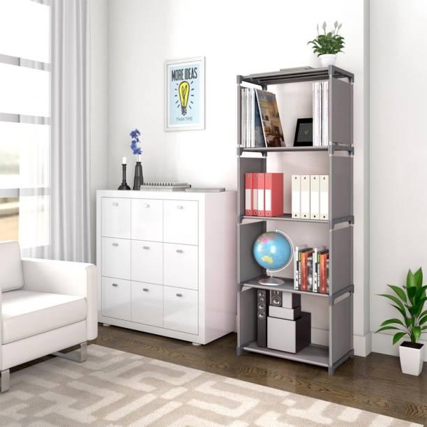thos 5 Layer Simple Bookshelf/Multipurpose Rack/Children Bookcases/File Rack for Office/Storage Organizer/Cabinet Shelves for Bedroom Office Living Room Metal Open Book Shelf