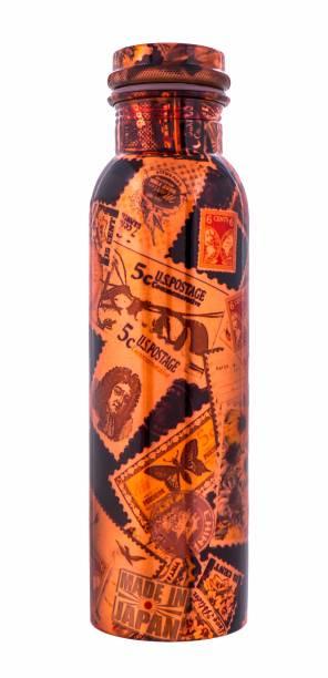 IndianArtVilla Copper Printed Water Bottle, Designer, Drinkware 1000 ml Bottle