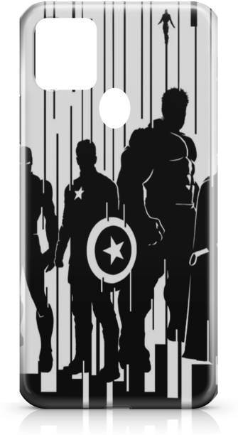 Accezory Back Cover for Samsung Galaxy M30s-CAPTAIN AMERICA-IRON MAN-AVENGERS-BACK CASE