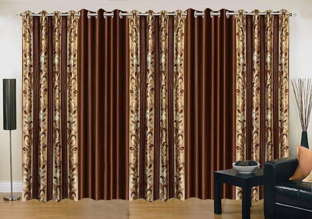 PARADISE HOME DECOR 274.3 cm (9 ft) Polyester Long Door Curtain (Pack Of 5)