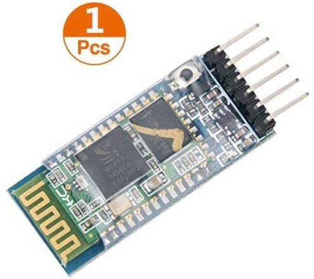 Robotronics HC-05 Master-Slave 6 pin Wireless Bluetooth RFTransceiver Module Anti-Reverse, Integrated Bluetooth Serial Pass-Through Module, Wireless Serial for Arduino FM Transmitter Electronic Hobby Kit