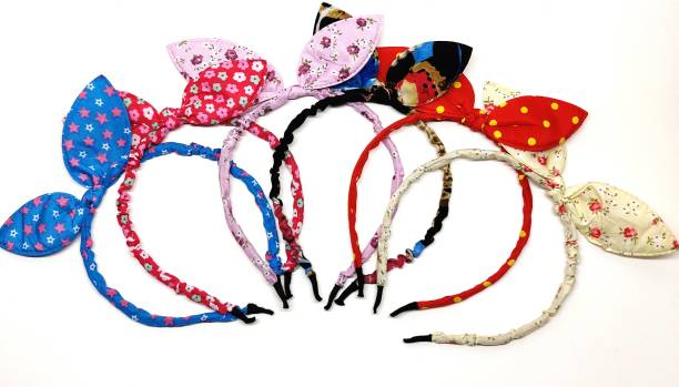 pretty Charming Rabbit Ears Rabbit/Bunny Hairband for Kids/Girls, Headband/Hairband Combo Multicolour Plastic Baby Girl's Hairband Pack of 6 Hair Band