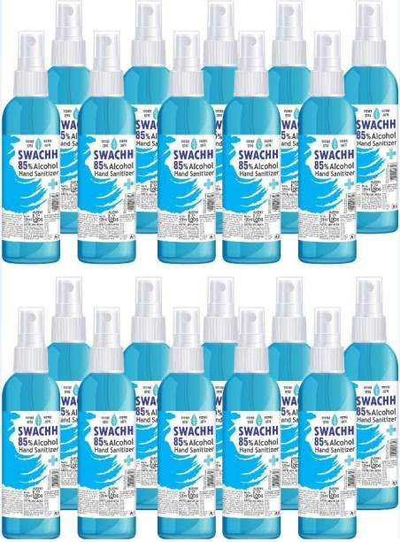 Austro Labs SWACHH HAND SANITIZER LIQUID SPRAY - 120 ML* 20 PC Sanitizer Spray Pump Dispenser