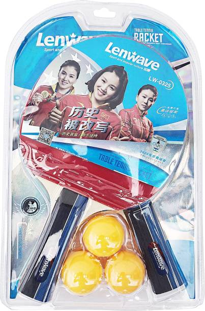 LenWave LW0325: Table Tennis Racquet Set of 2 and 3 Balls Table Tennis Kit