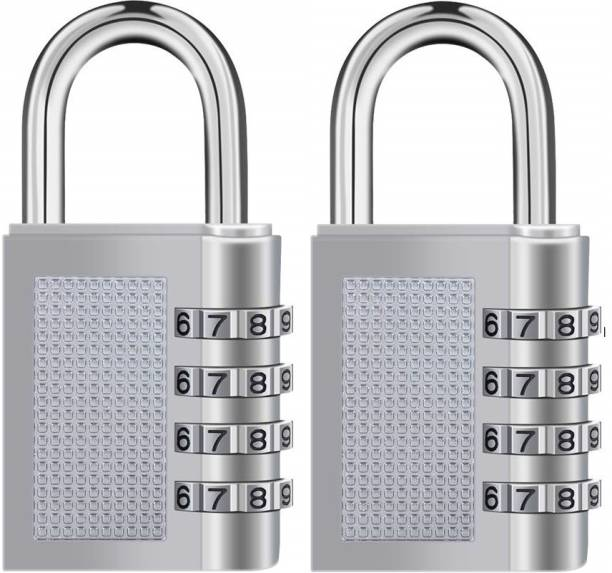 Techtest Combination 4 Digit Number Travel Luggage Password Lock For Home Office Gym School Padlock