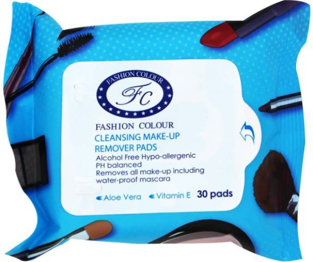FASHION COLOUR cleansing makeup remover pads Makeup Remover