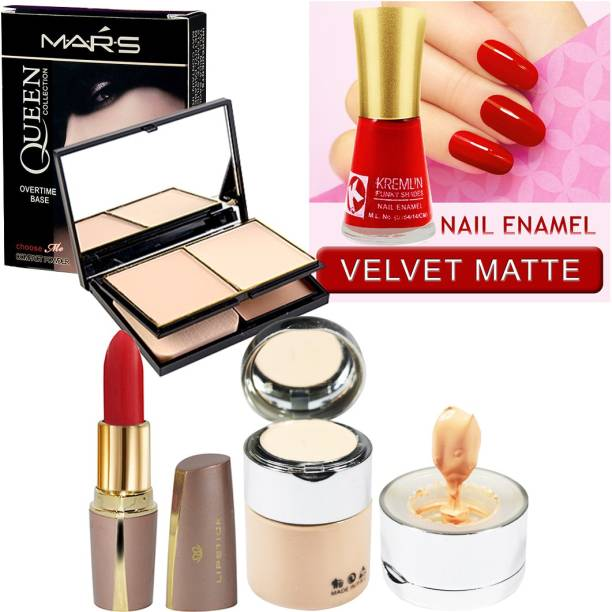 MARS Queen Collection Compact, Foundation With Nail Paint, Lipstick