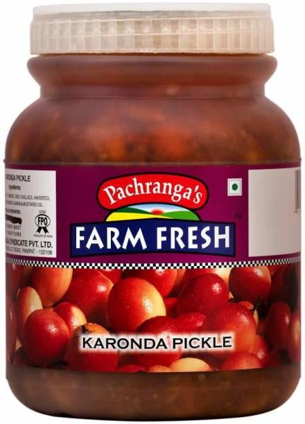 Pachranga's Farm Fresh Fresh Karonda Pickle - 1 kg Mixed Pickle