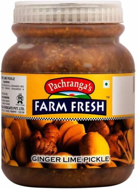 Pachranga's Farm Fresh Fresh Ginger Lime Pickle-1 kg Ginger Pickle