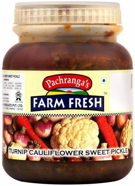 Pachranga's Farm Fresh Fresh Turnip Cauliflower Sweet Pickle - 1 kg Mixed Pickle