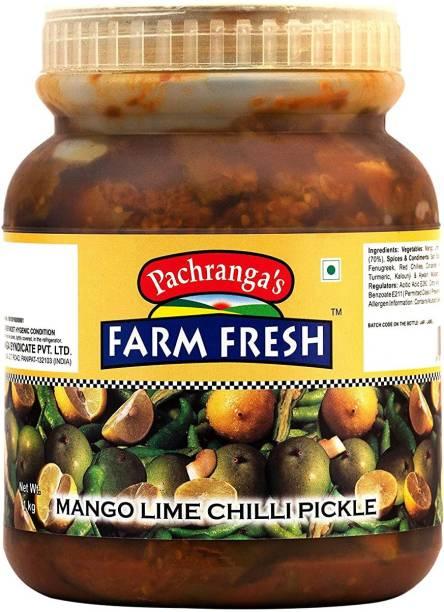 Pachranga's Farm Fresh Fresh Mango Lime Chilli Pickle Mango Pickle