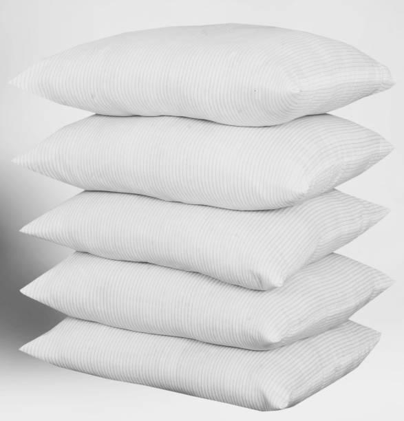 ZIBBRA Cotton Stripes Sleeping Pillow Pack of 5