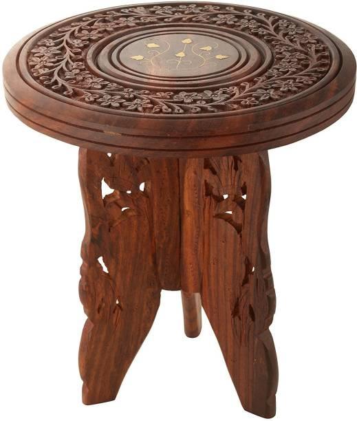 Fleurs De Rocaille sheesham wood Solid Wood Side Table