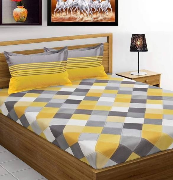 ivaza 180 TC Cotton Double Jaipuri Prints Bedsheet