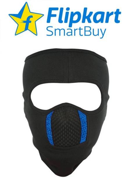Flipkart SmartBuy Black, Blue Bike Face Mask for Men & Women