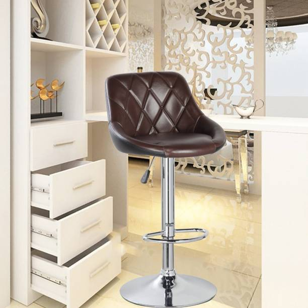 MBTC Kerland Bar, Kitchen, Cafeteria Stool in Brown & Black Leatherette Bar Chair