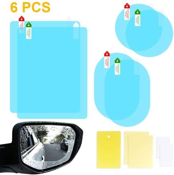 Campark 6 PCS 3 Size Car Rearview Mirror Protective Film, HD Clear Rainproof Film Anti Glare Anti Fog Waterproof Film for Car Mirrors and Side Windows Car Mirror Rain Blocker