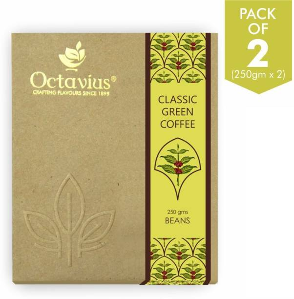 Octavius Organic Green Coffee Beans for Weight Loss (Pack of 2) Instant Coffee