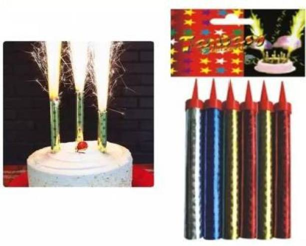 "seal the deal Sparkle candle for cake"" party celebration (Multicolor, Pack of 6) Candle"
