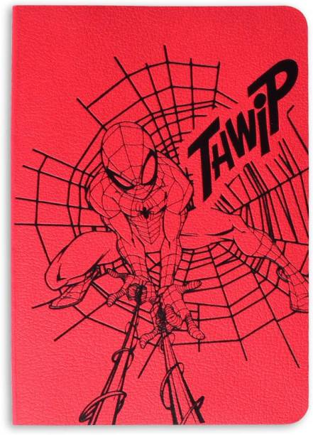 doodle Spider-Man Web Notebook A6 Notebook Ruled 114 Pages