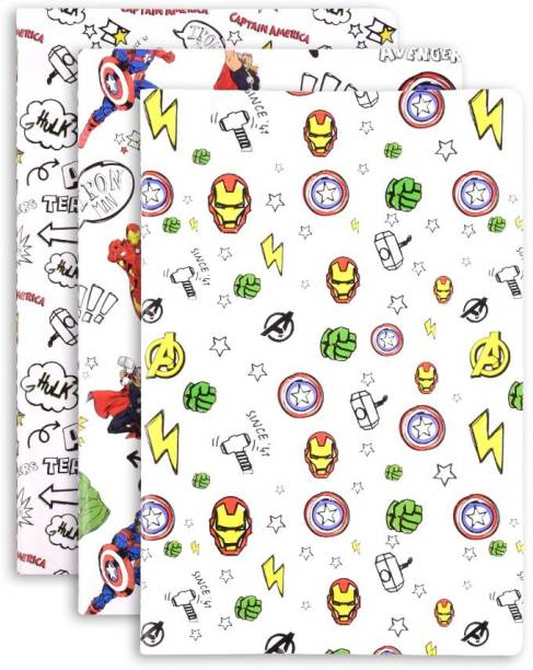 doodle Avengers Set of 3 Notebook- White B6 Notebook Ruled 64 Pages