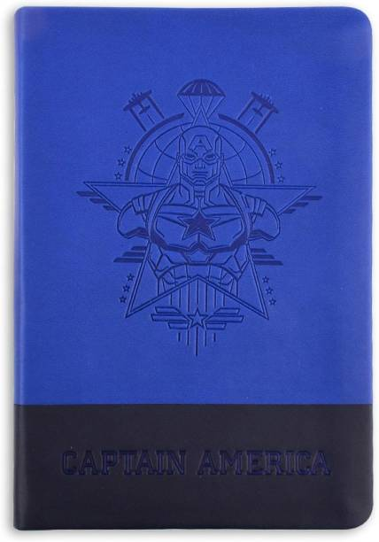 doodle Captain America True Blue Notebook B6 Notebook Ruled 160 Pages