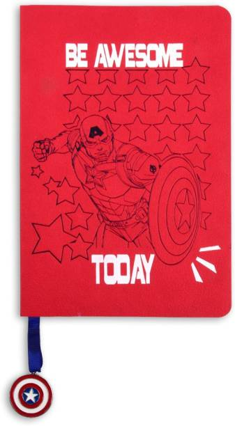 doodle Captain America Stars Notebook B6 Notebook Ruled 160 Pages
