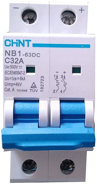 Chint Solar 32A 500V DC Miniature Circuit Breaker (MCB) NB1-63DC MCB