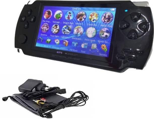 Medaline BLACK PSP gaming console with Music, Alarm, videos MD_053 4 GB with Mario, Taken3, Contra, Mustafa, CAR RACING, SHOOTING, ACTION GAMES, ARCADE, SHOOTING, WRESTLING, SPORTS