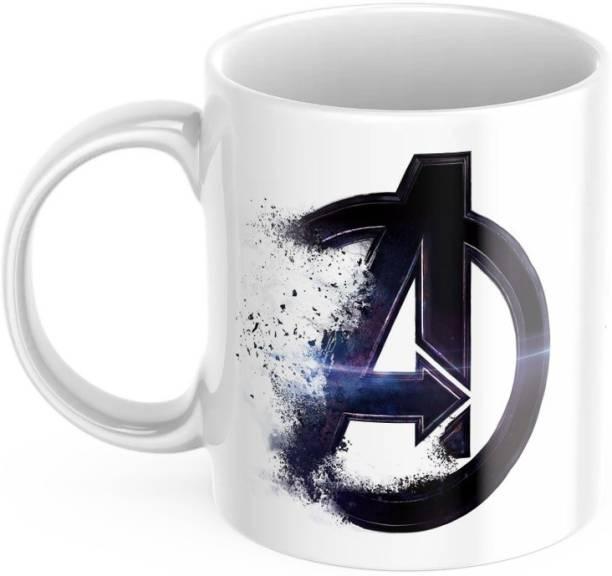 purezento Avengers logo marvel series superheroes captain america iron man thor Ceramic Coffee Mug