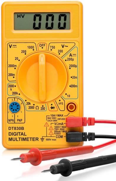 HOTFIX Digital Multimeter | Diode And Transistor Tester | AC/DC Volt Test | Test Probes | Voltmeter | Multitester |Volt/OHM Meter (VOM) Multi-Meter Yellow Digital Multimeter