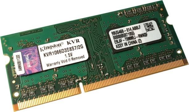 KINGSTON KVR DDR-3 DDR3 2 GB (Single Channel) Laptop (2Gb DDR-3 Laptop Ram)