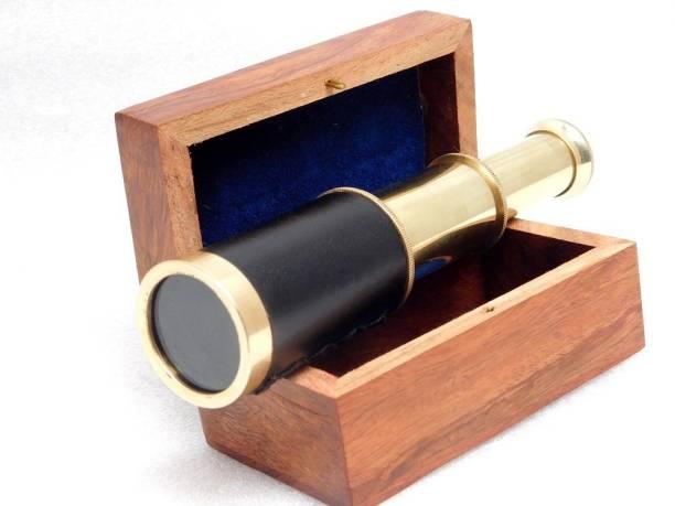 KHUMYAYAD Brass telescope antique nautical marine telescope with rosewood box Reflecting Telescope