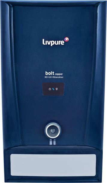 LIVPURE Bolt Copper 7 L RO + UV + Minerals Water Purifier