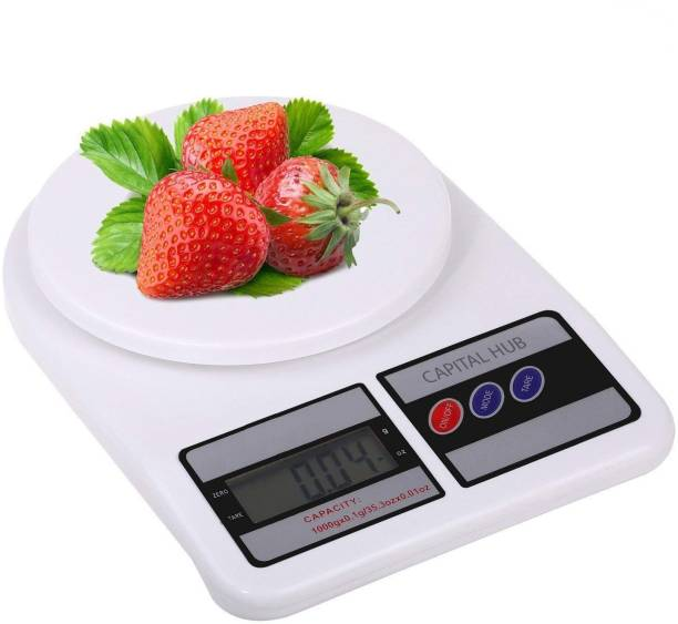 CAPITAL HUB Digital Kitchen Weighing Machine Multipurpose Electronic Weight Scale with Backlit LCD Display for Measuring Food, Cake, Vegetable Weighing Scale