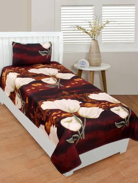 VARDHMAN EMPORIUM 120 TC Polycotton Double Floral Bedsheet