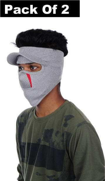 IM UNIQUE Grey Bike Face Mask for Men & Women