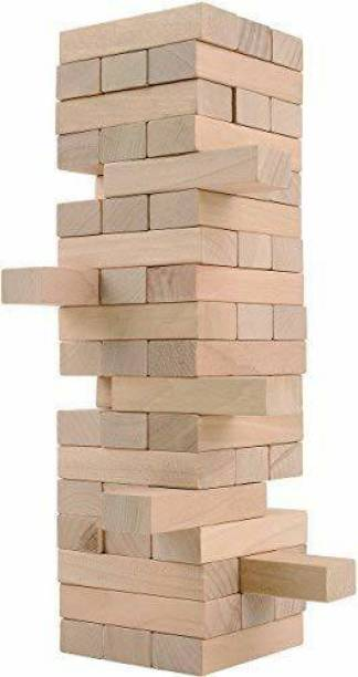 DawnRays Tumbling Tower Wood Block Stacking Game Dread Table Games Classic Truth or Dare Games Tumbling Tower for Adults, Children's & Families Stacking Toy Set Challenge Game