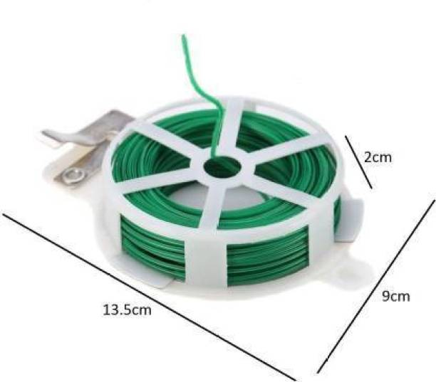 Badrivishal Roll Wire Twist Ties Green Garden Cable & Gardening Climbers Slicer 30m Plastic, Iron Standard Cable Tie