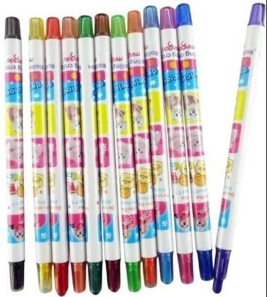 Mingda Arham Twist Up Crayons (12 Colours)