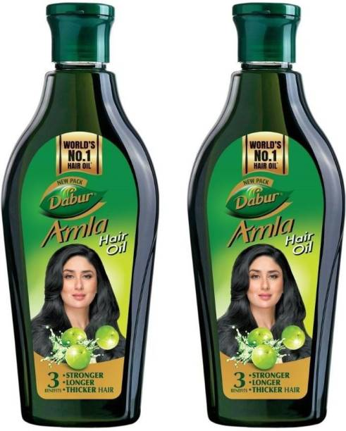 Dabur Amla Hair Oil for Long, Healthy and Strong Hair, 450 ml (Pack of 2) Hair Oil