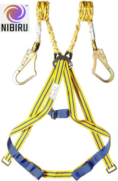 Nibiru Double Lanyard Full Body Safety Belt, Harness with Scaffolding Hook(Double hook) Safety Harness